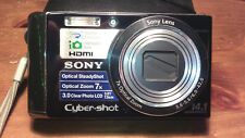 Sony Cyber-shot DSC-W370 14.1MP Digital Camera - Black 7X OPTICAL-V.G.C.