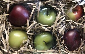 VINTAGE Illuminations Apple Candles Harvest Fall (6) Six Decor Free Shipping