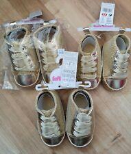 Gorgeous Baby Crib Baby Shoes Joblot Gold sparkle wholesale