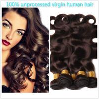 2# dark brown 100% Human Hair Indian Body Wave Bundles Extensions Hair Weft
