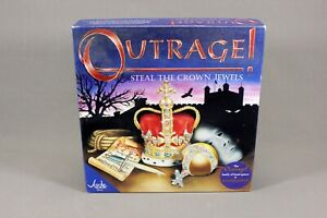 OUTRAGE! STEAL THE CROWN JEWELS BOARD GAME by JADE GAMES 2002 - COMPLETE