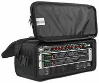 """Rockville RRB40 4U Rack Bag Double-Sided Case with 12"""" Depth + Shoulder Strap"""