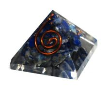 Reiki Energy Lapis Lazuli Crystal Gemstone Orgone Orgonite Pyramid Gift Wrapped