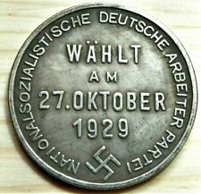WW2 GERMAN COMMEMORATIVE 5 REICHSMARK COLLECTORS COIN 27.OKTOBER 1929 HITLER