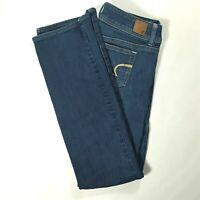 AMERICAN EAGLE Womens SLIM BOOT Low Rise Boot Cut Jeans Medium Wash Size 6 REG