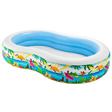 Intex Swim Center Paradise Inflatable Swimming Pool 103x63x18 Inch for Ages 3