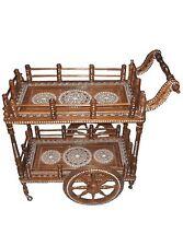 Rosewood Indian Inlaid Food Trolley, Service Trolley /Wine Trolley