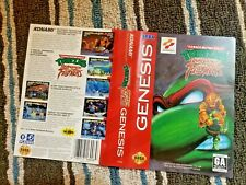 BOX ART ONLY TMNT Tournament Fighter Original Sega Genesis Case Sleeve Teenage