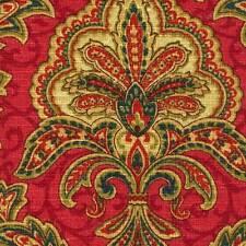 Mill Creek Raymond Waites LA SCALA SCARLET Drapery Home Decor Sewing Fabric BTY