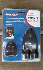 First Alert 2 Outelet Outdoor Remote Control New In Package (C)