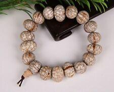 Big Stretchy19 Money Yuanbao Star Moon Old Bodhi Seed Prayer Beads Mala Bracelet