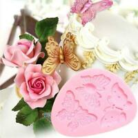 Tools Kitchen Pastry Cake Decorating Fondant Cake Mold 3D Butterfly Mould