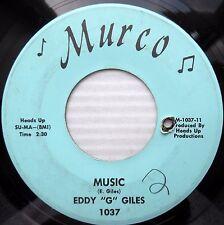 EDDY G GILES great Northern soul 45 HAPPY MAN / MUSIC VG++ Murco label w6428