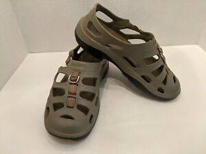 Shimano Evair Marine Fishing Sandals Water Shoes Men's Size 12 Khaki Color
