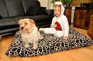 DOG PET BED Pillow with FREE Spare COVER SOFT Waterproof Washable Zipped CUSHION
