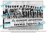 OLD 6 x 4 PHOTO ADVERTISER BEACH GIRL QUEST c1955 ADELAIDE SOUTH AUSTRALIA
