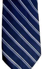 "Bill Blass Platinum Men's Silk Tie 58"" X 4"" Navy w/ multi-color American Stripes"