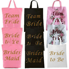 HEN PARTY BAGS BLACK PINK TEAM BRIDE TOTE GOODIES FAVORS SHOULDER KEEPSAKE GIFT