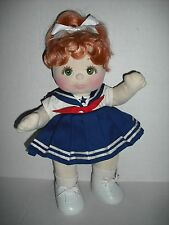 1985 Red Hair & Green Eyes Mattel My Child Doll With Original Clothes