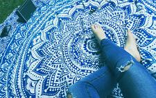Indian Ombré Mandala Round Tapestry Throw Hippie Beach Gypsy Bohemian Cotton