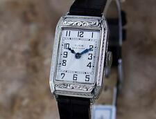 Elgin Rare 1920 USA Ladies White Gold Plated Luxury Mechanical Dress Watch LA103