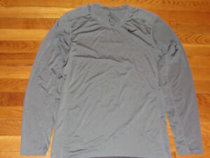 NIKE DRI-FIT LONG SLEEVE GRAY FITTED JERSEY MENS SMALL EXCELLENT CONDITION