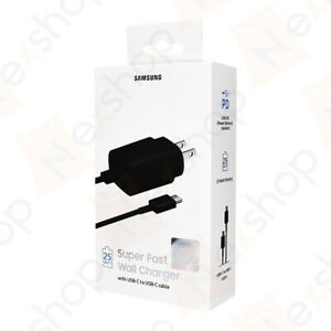 Original Samsung Galaxy S20 S20+ 25W Super Fast Wall Charger Type C Data Cable