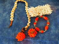 lot collier ,,bracelets ,perles,nacre ,,boucles  4piéces  a saisir !!
