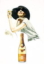 Art Ad Cristal Champagne Drink Drinks Bar Pub Deco  Poster Print