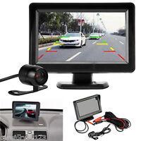 """4.3"""" TFT LCD Car Rear View System Monitor+Night Vision Backup Reverse Camera Kit"""