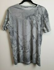Globe Men's Grey Marble Pattern T-Shirt Size M