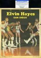 Elvin Hayes PSA DNA Coa Hand Signed 1970 Topps Basketball 8x10 Poster Autograph