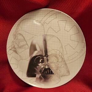 "DARTH VADER Star Wars Empire Strikes Back 10"" PLATE Zak! Blueprint Grid LFL B&W"