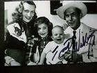 HANK WILLIAMS JR Authentic Hand Signed Autograph 4X6 Photo as BABY WITH HANK SR