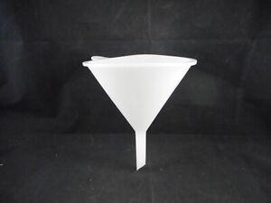 Laboratory Plastic Flex Funnel 145mm ID Top 85mm Stem 8mm ID Bottom 20cm Length