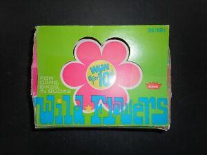 1969 WILD FLOWERS STICKERS DISPLAY BOX FLEER  *TEST ISSUE*