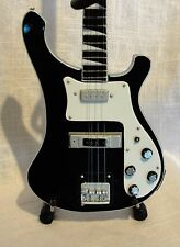 Black and White Miniature 4001 Rick Rickenbacker Bass Guitar Replica