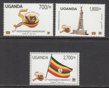 2012 Uganda Independence Anniversary flags monument complete set of 3 MNH