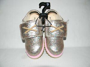 NEW TODDLER GIRL'S SIZE 9 WONDER NATION GLITZY GLITTER OXFORD SHOES