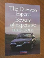 1995 Daewoo Espero original Australian 8 page brochure