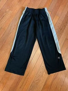 Champion Boys Pants Size Small Athletic Bottoms S Black Gray