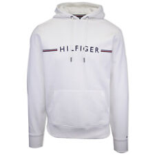 Tommy Hilfiger Men's Snow White Tommy Logo Pull Over Hoodie (Retail $109.50)