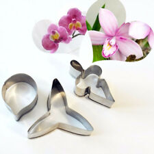 3PCS Moth Orchid Petal Cookie Cutter Stainless Steel Flower Cutter Gum Paste