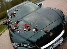 Wedding car decoration Flowers  + bows wedding car flowers  red kit