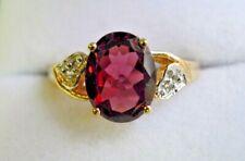 Vintage 10 Carat Garnet Ring