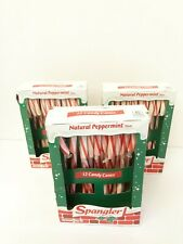 New listing Spangler Natural Peppermint Flavor 3 Boxes 12 Each Full Size Candy Canes 5.3 oz