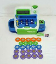 2003 Leap Frog PRETEND & LEARN Cash Register w/ 24 COINS Electronic Talking Toy
