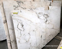 Marmor/ weiss Tischplatte Abdeckung Fensterbank Couchtisch Naturstein Platte NEU