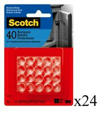 Scotch Self-Stick Rubber Pads, Clear, 1/2 in, Lot of 24 Packs (40 Pads/Pack)