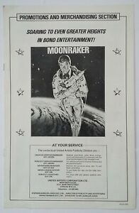 MOONRAKER [1979] Promotions & Merchandising Section JAMES BOND 007 Roger Moore
